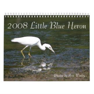Juvenile Little Blue Heron Wall Calendar