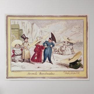 Juvenile Monstrosities, 1825 Poster