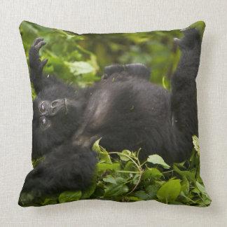 Juvenile Mountain Gorilla 2 Throw Pillow