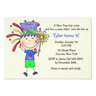 "Juvenile New Year / Birthday Party Invitation 5"" X 7"" Invitation Card"