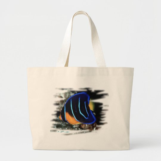 Juvenile Queen Angelfish Large Tote Bag