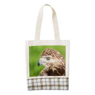 Juvenile Red Tailed Hawk Zazzle HEART Tote Bag