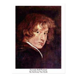 Juvenile Self-Portrait By Anthony Van Dyck Postcards
