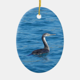 Juvenile Shag fishing Ceramic Ornament