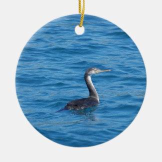 Juvenile Shag fishing Ceramic Ornament