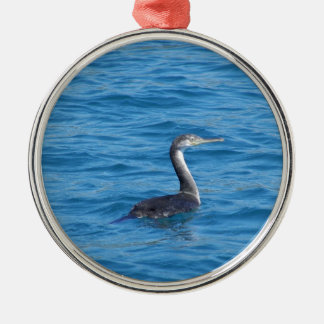Juvenile Shag fishing Metal Ornament