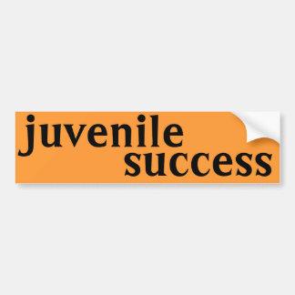 juvenile success bumper sticker