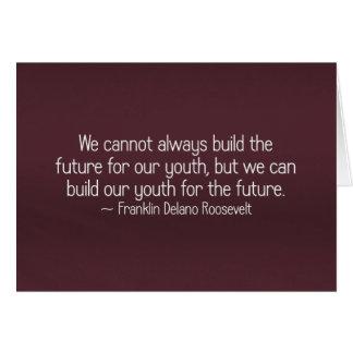 Juventud del edificio para el (2) futuro felicitacion