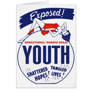 ¡Juventud del kitsch del vintage expuesta hecha Tarjeta De Felicitación