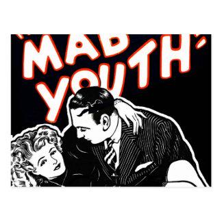 Juventud enojada del jazz del vintage del kitsch postales