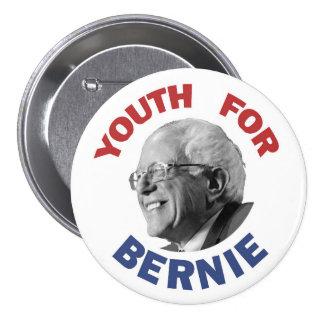Juventud para Bernie Pin Redondo De 3 Pulgadas
