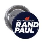 Juventud para el botón de la campaña de Paul del Pin Redondo De 2 Pulgadas