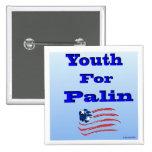 Juventud para el botón de Palin Pins