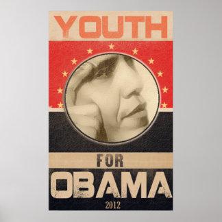 Juventud para el Grunge 2012 de Obama Impresiones
