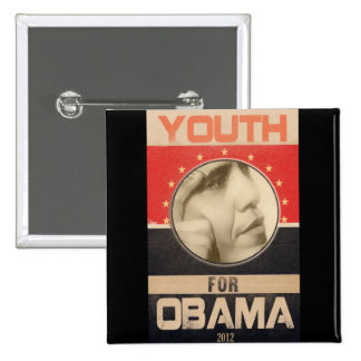 Juventud para el Grunge 2012 de Obama Pin Cuadrado
