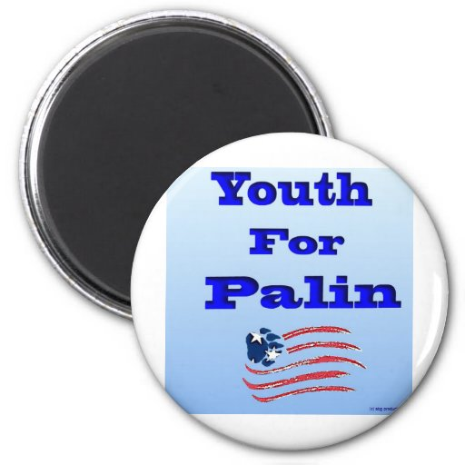 Juventud para el logotipo de Palin con la bandera  Imán De Frigorifico
