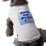 Juventud para la ropa del perrito de Palin Camisetas De Mascota