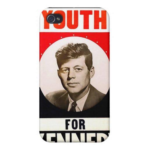 Juventud para presidente John F. Kennedy iPhone 4 Cárcasas