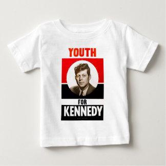 Juventud para presidente John F. Kennedy Playera De Bebé