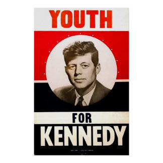 Juventud para presidente John F. Kennedy Póster