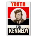 Juventud para presidente John F. Kennedy Tarjeton
