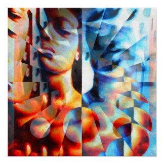 Juxtaposed (Illusion-ed) Poster