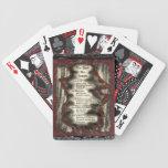 Juzgan a los muertos baraja cartas de poker