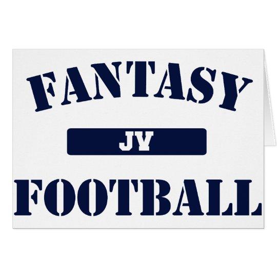JV Fantasy Football Card