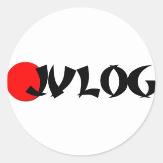 JVLOG CLASSIC ROUND STICKER