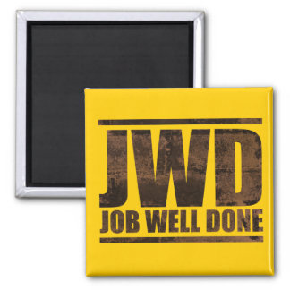 JWD Job Well Done - Wash Design 2 Inch Square Magnet