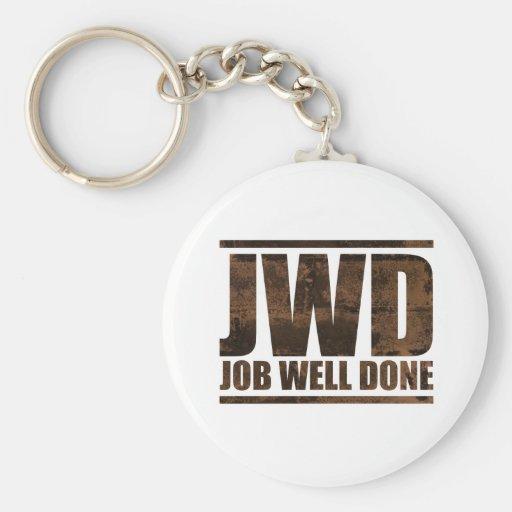 JWD Job Well Done - Wash Design Basic Round Button Keychain