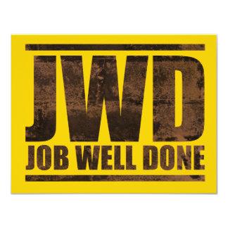 JWD Job Well Done - Wash Design Card