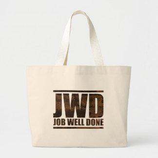 JWD Job Well Done - Wash Design Large Tote Bag