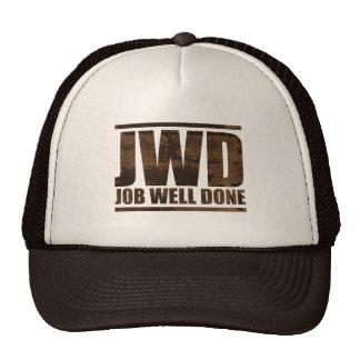 JWD Job Well Done - Wash Design Trucker Hat