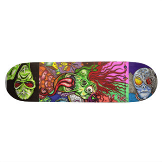 JWi Studios™ Wicked SkateDex: Three-Alien Shock Skateboard Deck