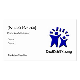 JWPOSD Parent Cards Business Card