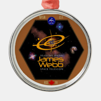 JWST CSA Program Patch Metal Ornament