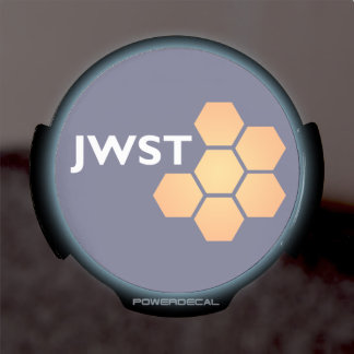 JWST icon (light text) LED Window Decal