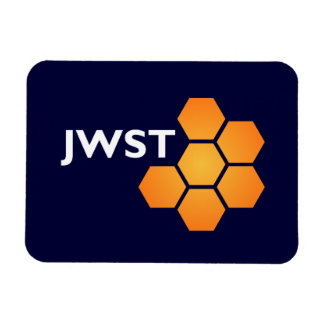 JWST icon (light text) Rectangle Magnets