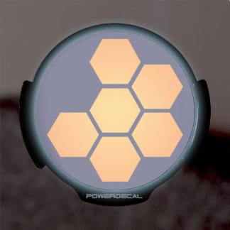 JWST icon (no text, navy) LED Car Window Decal