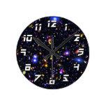 JWST Simulation Pop Art Round Wall Clocks