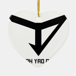 JYD Logo Ceramic Ornament