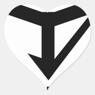 JYD Logo Heart Sticker