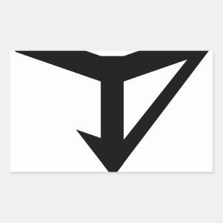 JYD Logo Rectangular Sticker