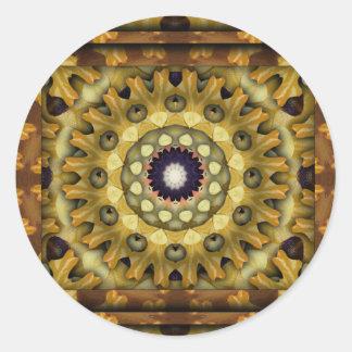 K117 Autumn Kali Classic Round Sticker