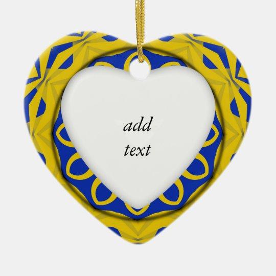 K128 Yellow & Blue Kali Ceramic Ornament