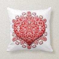 K160 Lovely Red Heart Design Throw Pillows