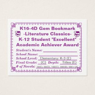K16-4D Gem Bookmark -Literature Classics- 100ct Business Card