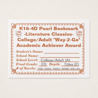 K16-4D Pearl Bookmark -Literature Classics- 100ct Business Card