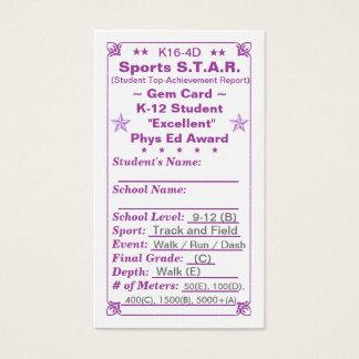 K16-4D Sports S.T.A.R. ~Gem Card~ HS 100ct Business Card